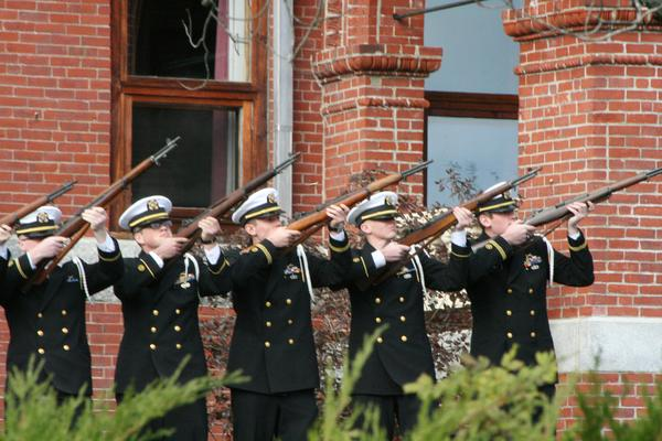 A gun salute