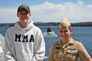 MMA midshipmen Travis Norwood and Rebecca Metcalf