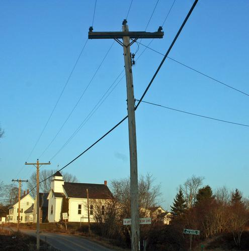 Single Phase Line : Power poles upgraded in penobscot photo bay