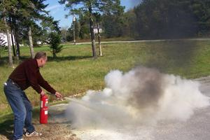 Volunteer fire fighter Hugh Evans