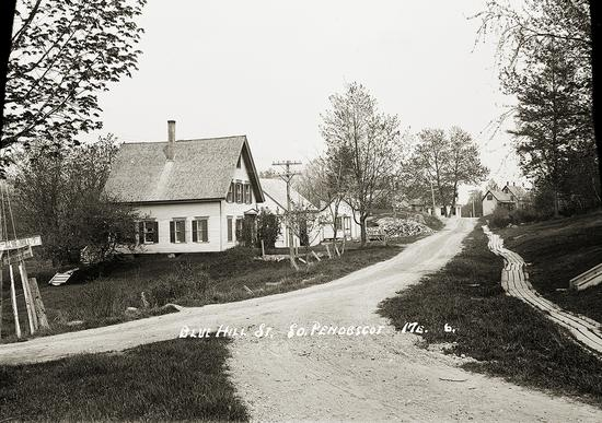 An historic view of Blue Hill Street, now called Western County Road