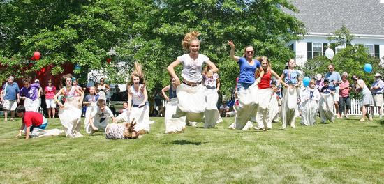 Castine's July 4th sack race