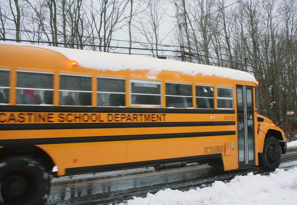For first snow, a new school bus