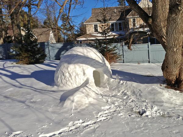 An igloo built for two