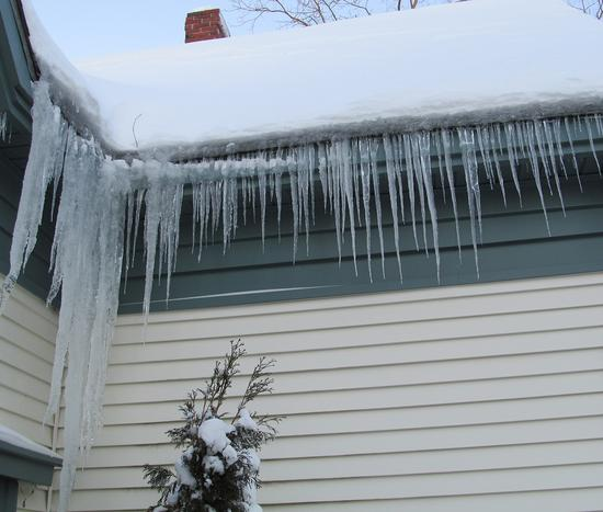 Icicles flourished and temperatures at night dropped