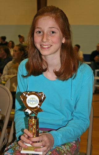 Yvonne Rogers won third place in the Union 93 speech contest