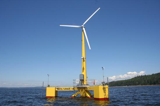 VolturnUS, a 1:8 scale wind turbine off Castine Harbor
