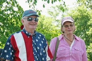 John and Liz Parish at the Castine parade
