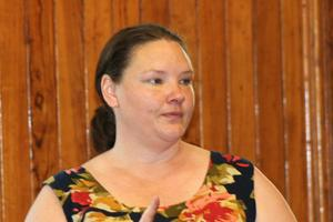 Jessica Rollerson at Castine Town Meeting