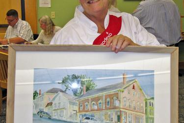 Janice Fitch of Castine takes part in the plein air festival