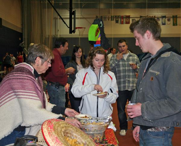 Linda Abernethy at the annual chili cook-off