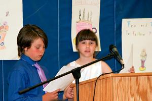 Penobscot students emcee a literary tea