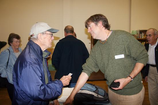 Bill Murtagh of Penobscot and Kevin Johnson of the Penobscot Marine Museum