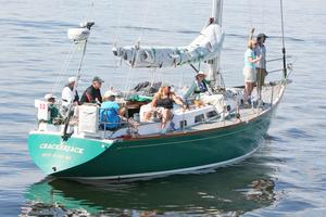 Crackerjack dropped anchor in the Maine Retired Skippers Race