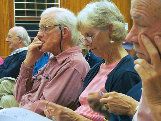 Residents attend a public hearing on Castine's zoning