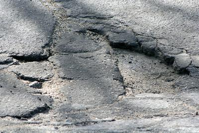 Potholes plague Route 15 in Deer Isle