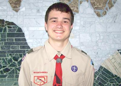 With sights on Eagle Scout status