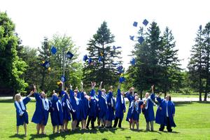 The Deer Isle-Stonington Class of 2014 celebrate graduation