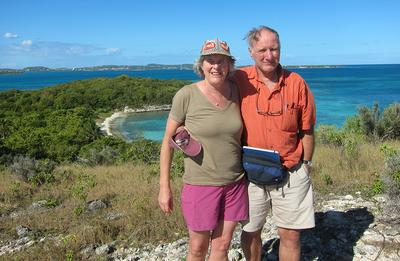 Holley Mead and Bruce Bulger in Antigua