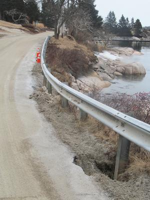 A washout on Indian Point Road in Stonington