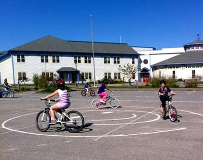 Rounding up bicycle skills in Deer Isle