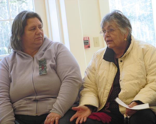 Stonington Manor residents Linda Wichowski and Collie Varick