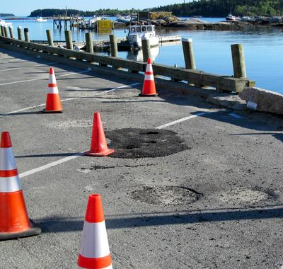 Sink holes in Stonington