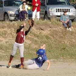 Chelsea Brown steals third base