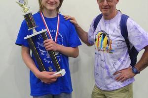 Eighth-grader Cameron Wendell