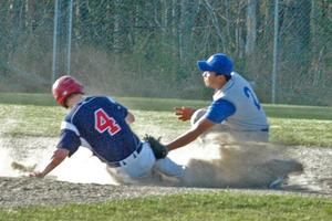 Kris Melanio tags out Bangor Christian