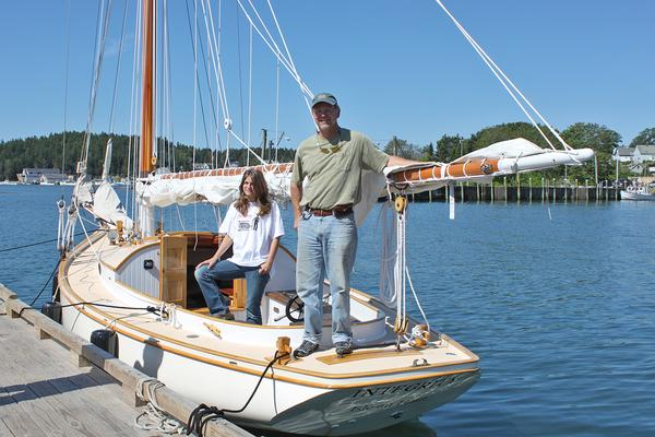 Marshall Chapman in the first Deer Isle Boat Show