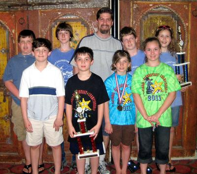 Members of the Deer Isle Stonington Elementary School K-6 chess team