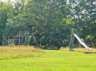 The playground behind the former Deer Isle Elementary School.