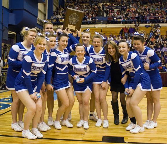 A happy DIS cheerleading team