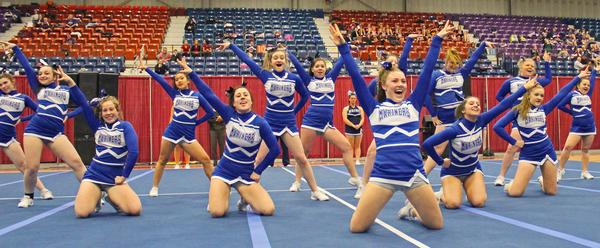 DISHS cheerleaders take third in State Competition