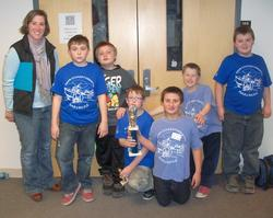 The Elementary chess team, Novice division