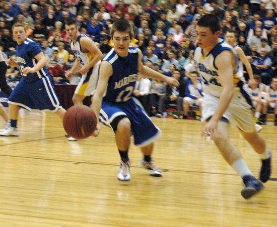 Sam Grindle goes for a steal