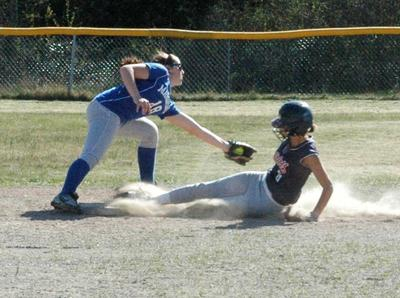 Morgan Shepard stops Bangor Christian from making it to base