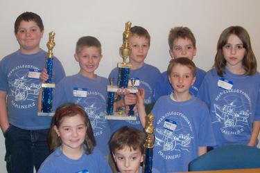 The Deer Isle-Stonington K-3 chess team