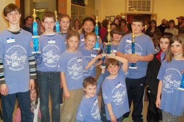 The Deer Isle-Stonington K-6 chess team