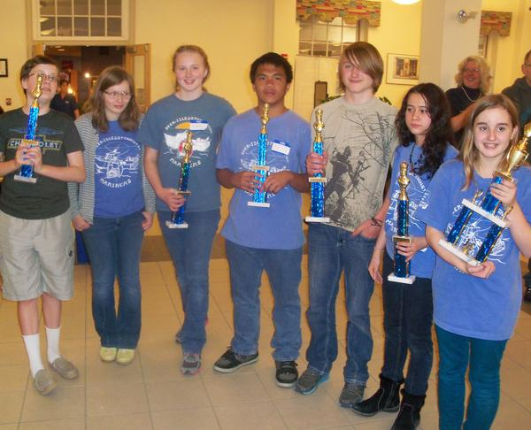 The Deer Isle-Stonington K-8 chess team