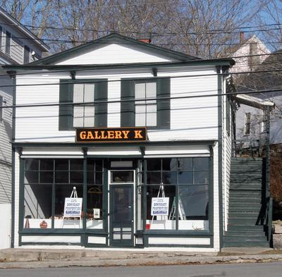 Gallery K is one of nine foreclosed properties in Stonington