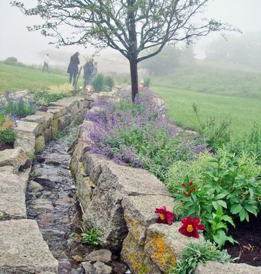 A brook runs through McWilliams' garden