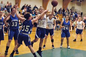 Heidi Brewer shoots for the basket