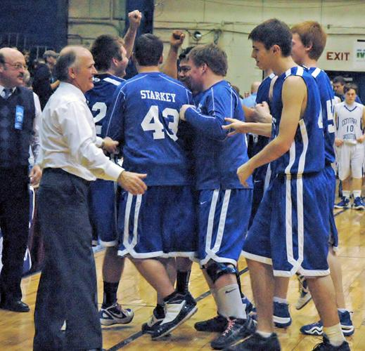 Deer Isle-Stonington basketball coach Glen Billings