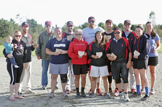 Deer Isle team in the 2013 Grindle Tournament