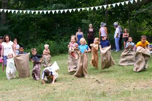 Island Heritage Trust's ice cream social potato sack race