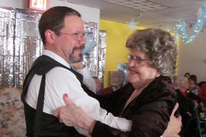 Harry Rodriguez and Mary Heanssler hit the dance floor