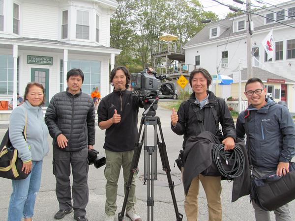 Japanese film crew visits Stonington
