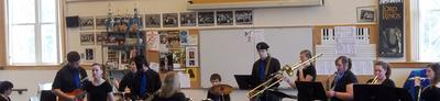 The Deer Isle-Stonington High School Jazz Band